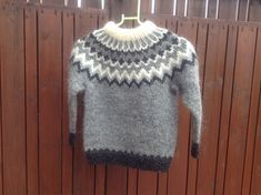 Made to order. Icelandic sweater, for 6 8 10 12 year old, unisex, sweater… Baby Sweaters, Wool Sweaters, Fashion Art, Pull Bebe, Icelandic Sweaters, Sweater Making, Handmade Shop, Handmade Gifts, Pulls