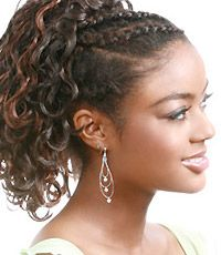 drawstring ponytail hairstyles black women - Yahoo Image Search Results