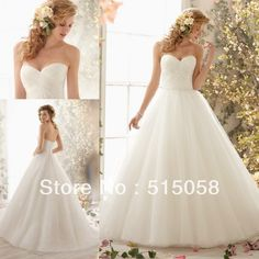 Simple Pleated Sweetheart Pirncess Ball Gown Wedding Dresses 2014 New Arrival Vestidos De Novia-in Wedding Dresses from Apparel & Accessories on Aliexpress.com