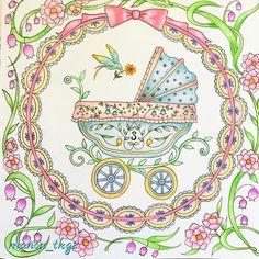 Instagram media manon_tkg2 - 『新しい友達』右ページ。赤ちゃんのページだから、なんとなく優しい色合いにしたくて、パステルカラーになりました♡  #ロマンティックカントリー #ロマンティックカントリー3 #romanticcountrycoloringbook #コロリアージュ #coloriage #coloringforadults #coloringbyadults #coloriageadulte #beautifulcoloring #coloringbook #coloringbookforadults #coloringbooks #adutcoloringbook ##大人の塗り絵 #大人のぬりえ #大人のぬり絵 #おとなのぬりえ #おとなの塗り絵