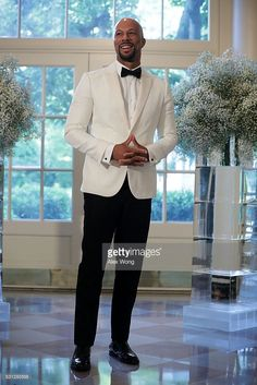 Rapper Common arrives at a Nordic State Dinner May 2016 at the White House in Washington, DC. President Barack Obama and the first lady are hosting the heads of the five Nordic nations for a. Fine Black Men, Gorgeous Black Men, Handsome Black Men, Fine Men, Beautiful Men, Simply Beautiful, Sharp Dressed Man, Well Dressed, Common Rapper