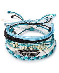 Pura Vida Bracelets Ocean Adventure Bracelets, Set of 5   Bloomingdale's