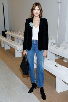 Alexa Chung in Vetements jeans