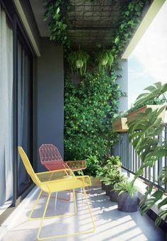 Small Balcony Design, Small Balcony Garden, Small Balcony Decor, Balcony Plants, Outdoor Balcony, Small Patio, Balcony Gardening, Small Balconies, Outdoor Chairs