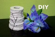 Jarrón hecho con cartón, DIY, florero. Vase with cardboard diy