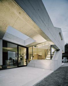 Unique Minimalist Modern Villa on Lake Untersee, by Architect Biehler Weith Associated