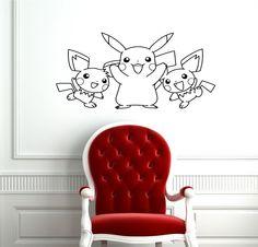 Baby Room Nursery Wall Vinyl Sticker Decals Art Mural Pokemon D1892. $29.99, via Etsy.