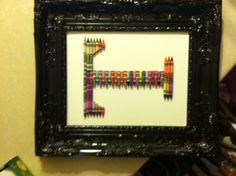My craft project in a frame