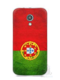 Capa Moto G2 Bandeira de Portugal