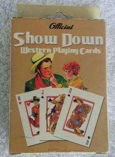 Vintage Show Down Western Playing Cards Cowboys Indians Bull Ridin' Jokers