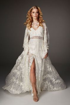 Bohemian Bride, Bohemian Wedding Dresses, Dream Wedding Dresses, Designer Wedding Dresses, Bridal Dresses, Lace Bridal, Lace Wedding, Wedding Shoes, Wedding Gowns With Sleeves