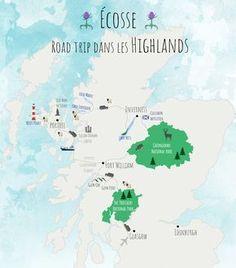 map roadtrip Scotland higlands – Travel and Tourism Trends 2019 Bus Travel, Roadtrip, Travel And Tourism, Travel City, Travel Europe, Destinations D'europe, Holiday Destinations, Scotland Road Trip, Scotland Travel