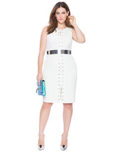 517441946db22 Studio Grommet Embellished Dress White Plus Size Inspiration