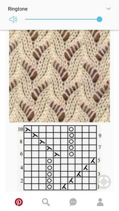 free lace knitting stitch pattern, chart only, no key Lace Knitting Stitches, Knitting Blogs, Crochet Stitches Patterns, Knitting Charts, Lace Patterns, Easy Knitting, Loom Knitting, Knitting Patterns Free, Stitch Patterns