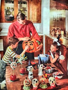 From an issue of a 1962 Better Homes and Gardens magazine. Oh to just go ahead and recreate the fun and food items. Popcorn balls!