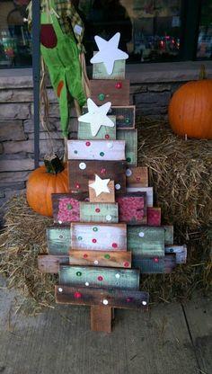 paletten kaufen diy_deko ideen weihnachtsbaum
