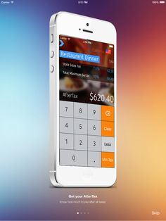 AfterTax: Automatically calculate what taxes will be for food, sales, and service | App Saga