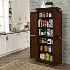 Home Styles 5005-69 Americana Kitchen Pantry, Cherry Finish