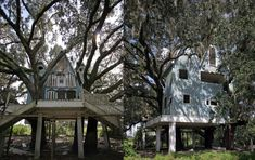 The Abandoned Victorian Tree House in Florida – Originally part of a large complex  this incredibly thought out tree house is one of a kind. It has begun to deteriorate beyond repair since most of the windows were broken out and the weather has gotten in. The dual stair way up to the entrance is a really nice touch. The trees growing around the little house have really accented it in a mystical manner. It is located just at the back of the abandoned house that is near the center of the…
