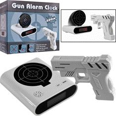 The gun alarm clock. Get some more snooze time and practice your aim, at the same time.