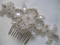 Rhinestone Bridal Comb, Crystal Bridal Hair Fascinator, Wedding  Bridesmaid Accessory, Vintage Style Head Piece. $35.00, via Etsy.