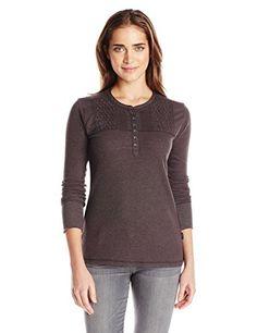 Woolrich Womens Fairmount Waffle Henley Knit Top
