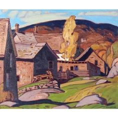 A.J. Casson - Barns Parry Sound 10 x 12 Oil on panel (1930) University Of Western Ontario, Wood Oil, Canvas Board, Magazine Art, Art Market, Barns, Oil On Canvas, Artwork, Artist