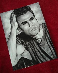 diaries vampire elena drawings gilbert salvatore stefan damon tvd enzo dibujos wesley paul artist ink a5 jeremy ian postcard zeichnen