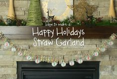 We have such a fun DIY Video for you! Click the link to see how to quickly put together this Paper Straw Christmas Garland! #christmas #christmasdiy #christmasgarland #decor #diy #orientaltrading