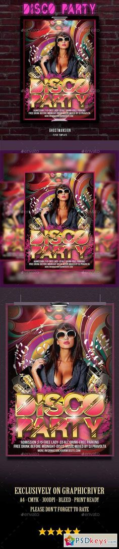 Disco Funk Flyer  Poster  Discos Flyer Template And Party Poster