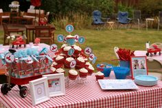red wagon boy first birthday party