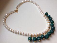 Elegant Pearl and Gem Necklace