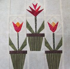 Spring Time Bloom Quilt Block - via @Craftsy