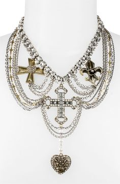 Betsey Johnson 'Black Label' Frontal Necklace available at Nordstrom