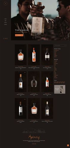 Equipped with astounding shop elements, Aperitif WordPress theme offers you everything your online store can need. Alcohol Shop, Craft Beer Shop, Liquor Drinks, Drinks Alcohol, Online Wine Shop, Liquor Shop, Online Web Design, Simple Web Design, Beer Store