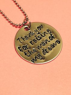A personal favorite from my Etsy shop https://www.etsy.com/listing/189495246/hand-stamped-necklace-mother-in-law