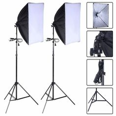 NEWLY Photo Backdrop+Support SET 1350W Studio SOFTBOX Lighting KIT Photography