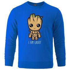 Avengers I'M GROOT Printed Sweatshirts - blue 6 / L
