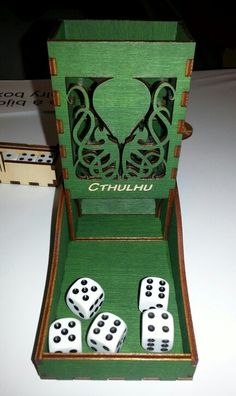 Dice tower by gravue-laser.ca