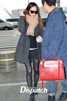 Krystal Airport Fashion 2014 F(x) krystal mendapat