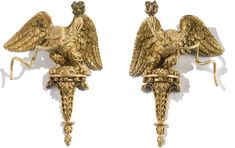 date unspecified A pair of Regency giltwood eagle-form wall-lights Estimate   8,000 — 12,000  USD  LOT SOLD. 5,625 USD (Hammer Price with Buyer's Premium)
