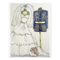 US Marine Wedding Invitations