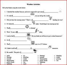 Printables Weather Worksheets Middle School instruments worksheets and printable on pinterest weather worksheet