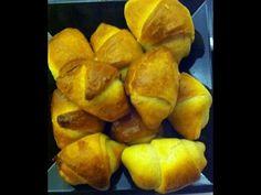 Κρουασανάκια - YouTube Homemade Croissants, Snack Recipes, Snacks, Chips, Peach, Fruit, Youtube, Food, Snack Mix Recipes