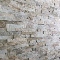 Mrs Stone Store - Mini Stepped 3d Oyster Slate Wall Cladding Panel 600x150x8-13 Sections at splash back to sink and bath taps