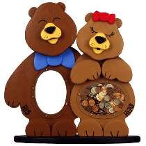 The His & Hers Bear Bank Plan #W2828 from Meisel Hardware Specialties