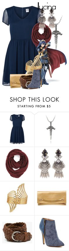 """""""Lucina"""" by amarie104 ❤ liked on Polyvore featuring Vero Moda, Menku, Paula Bianco, DANNIJO, Nintendo, Forever 21, Moss Mills, Stitch & Hide and Michael Antonio"""