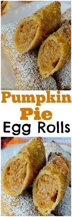 Pumpkin Pie Egg Rolls!