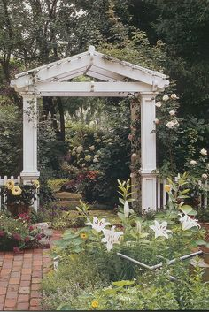 Arbor possibly made with salvaged woodwork?
