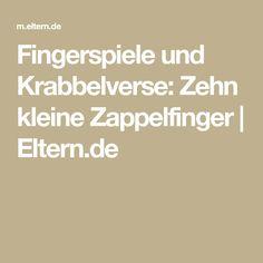Fingerspiele und Krabbelverse: Zehn kleine Zappelfinger | Eltern.de